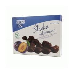 Śliwka kalifornijska w czekoladzie bez cukru 200 g GLUTENEX
