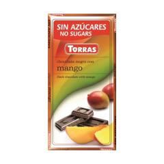 Czekolada gorzka z mango bez cukru 75 g Torras