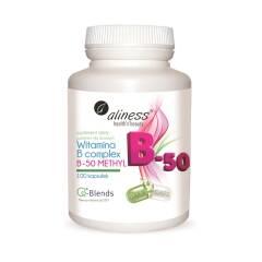 Witamina B Complex B-50 Methyl 100 kapsułek Aliness