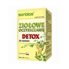 Ziołowe oczyszczanie Detox 60 tabletek Sanbios